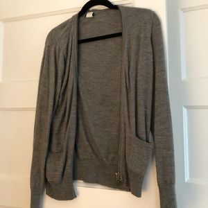 Slouchy J Crew charcoal gray sweater
